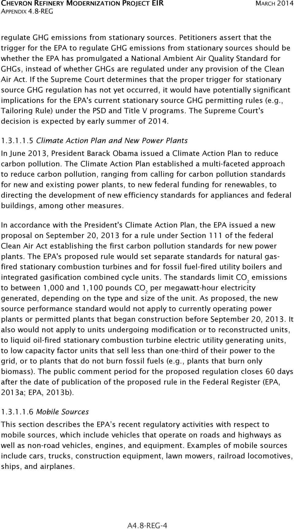 of whether GHGs are regulated under any provision of the Clean Air Act.
