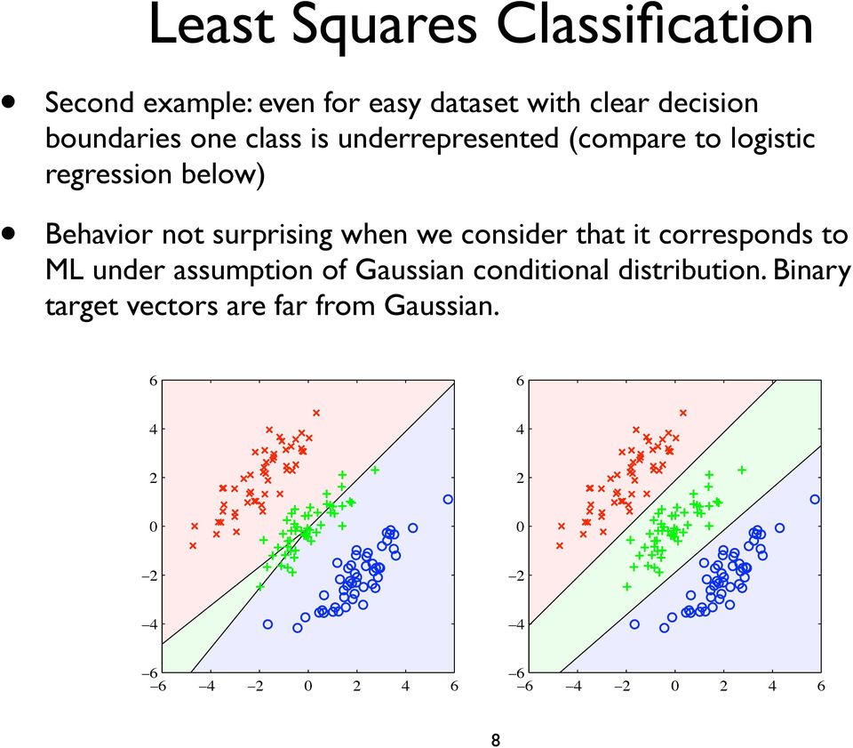 we consider that it corresponds to ML under assumption of Gaussian conditional distribution.
