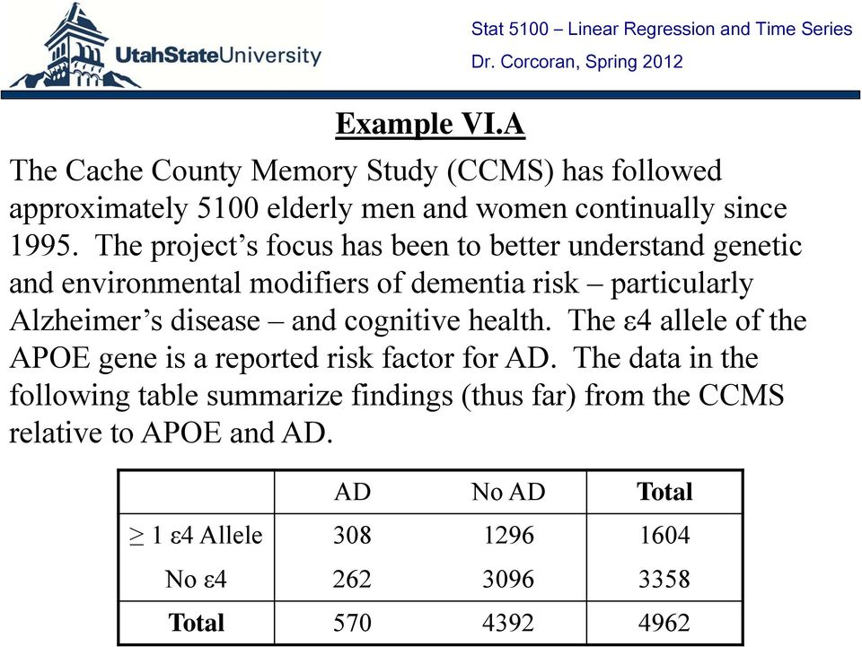 disease and cognitive health. The ε4 allele of the APOE gene is a reported risk factor for AD.