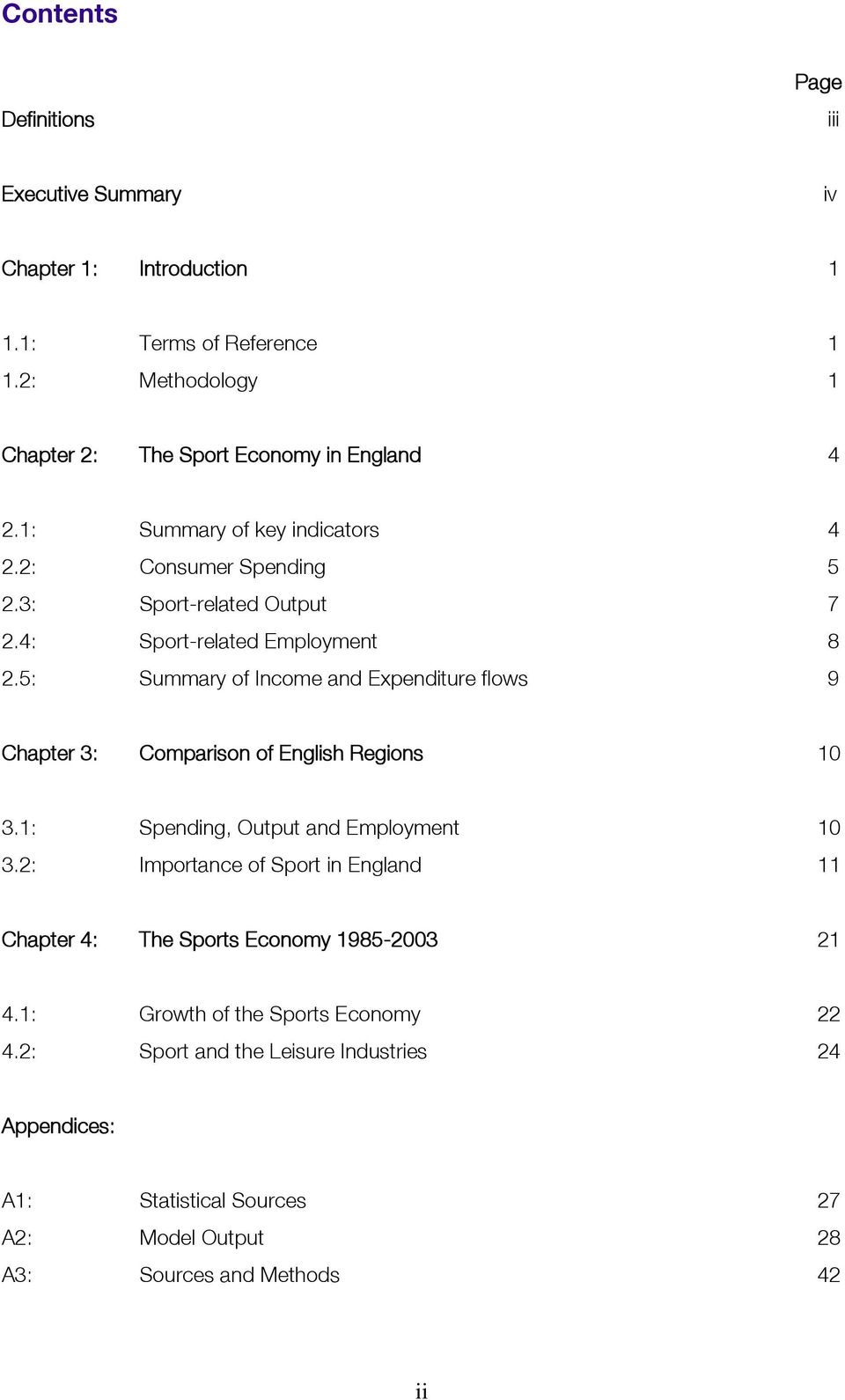 5: Summary of Income and Expenditure flows 9 Chapter 3: Comparison of English Regions 10 3.1: Spending, Output and Employment 10 3.