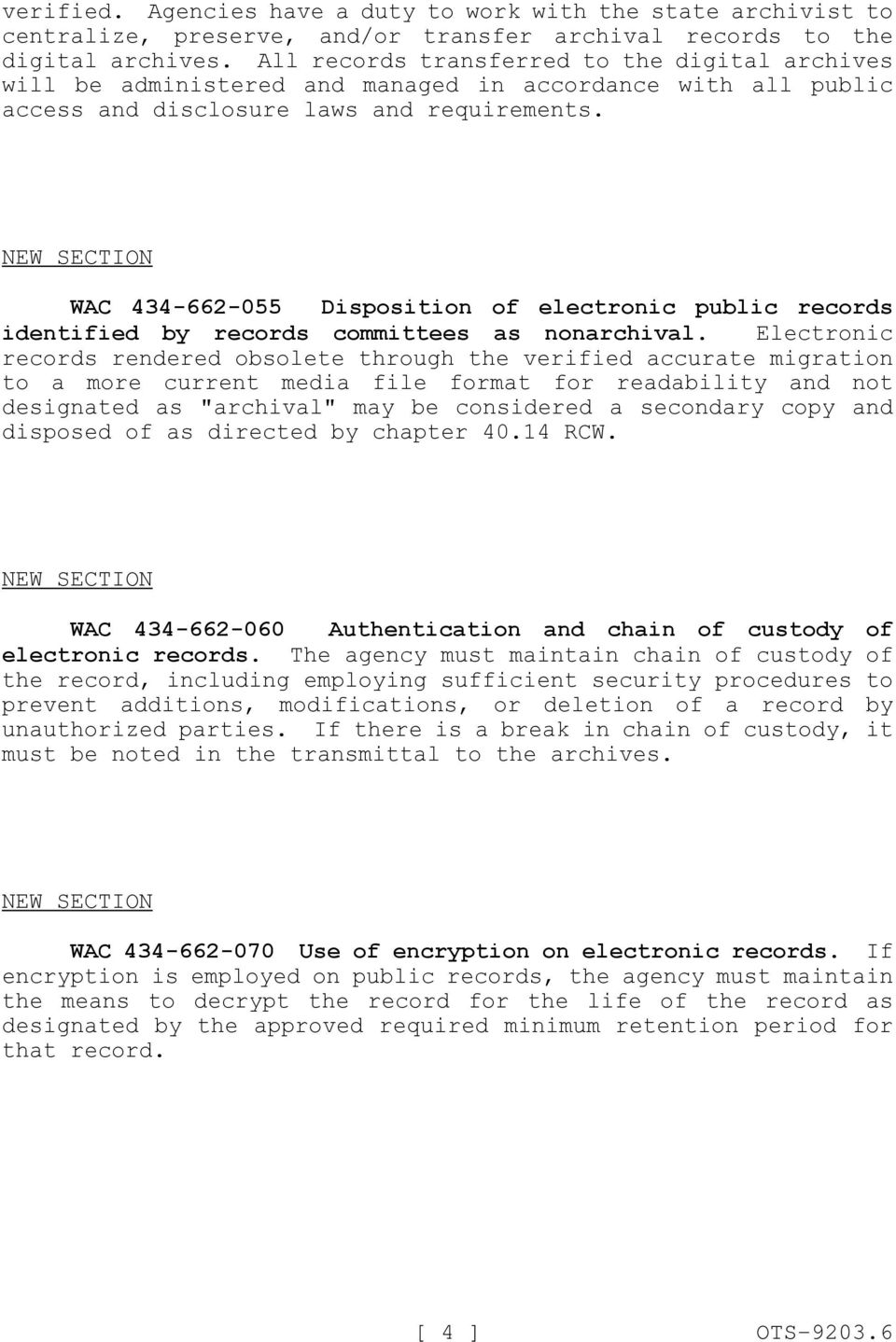 WAC 434-662-055 Disposition of electronic public records identified by records committees as nonarchival.
