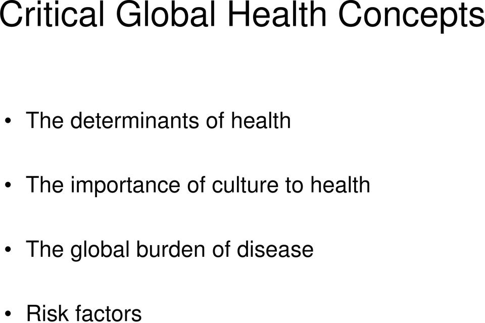 importance of culture to health