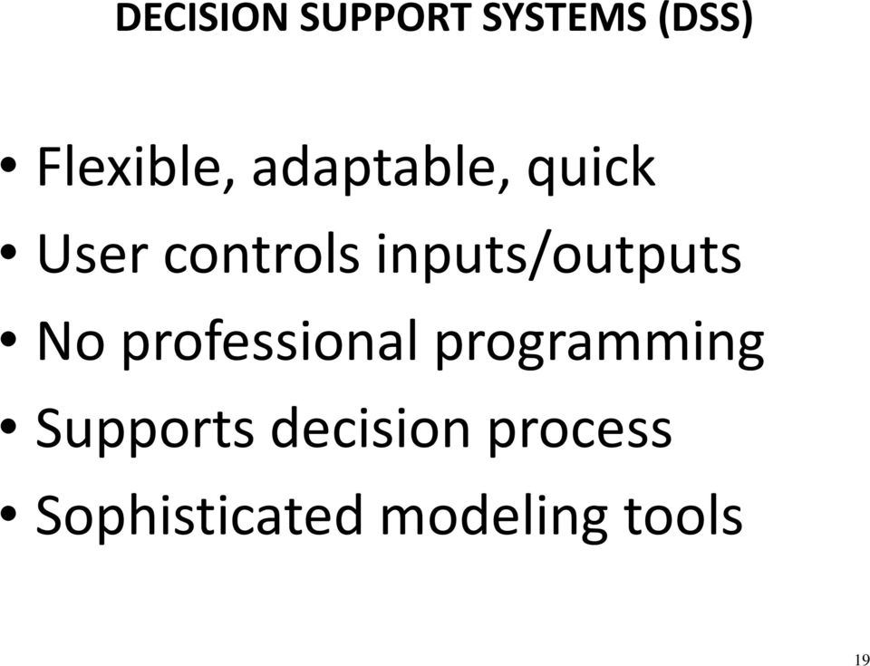 inputs/outputs No professional programming