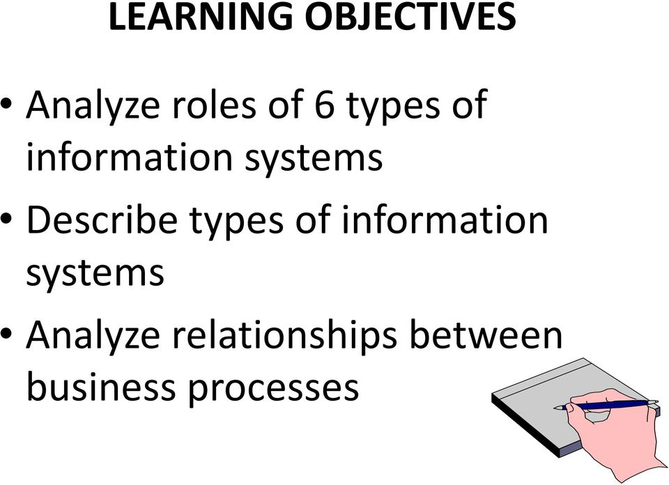 types of information systems Analyze