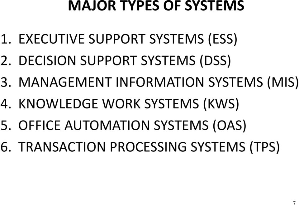 MANAGEMENT INFORMATION SYSTEMS (MIS) 4.