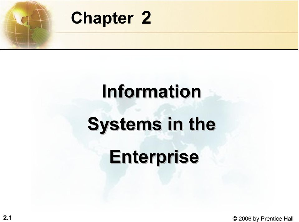 Systems in the