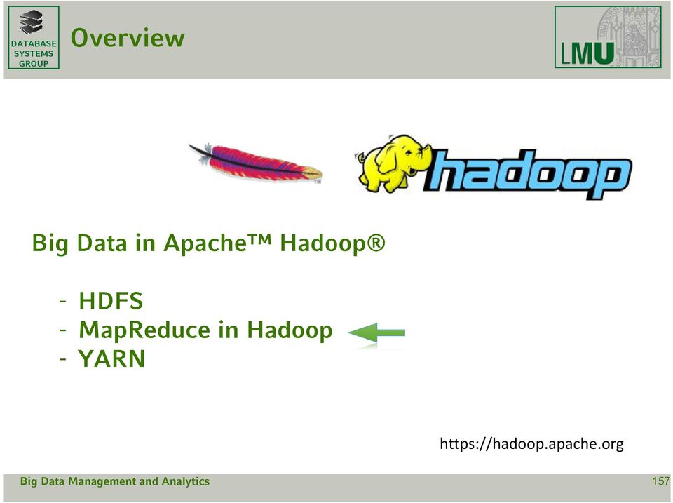 MapReduce in Hadoop -