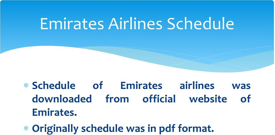 from official website of Emirates.