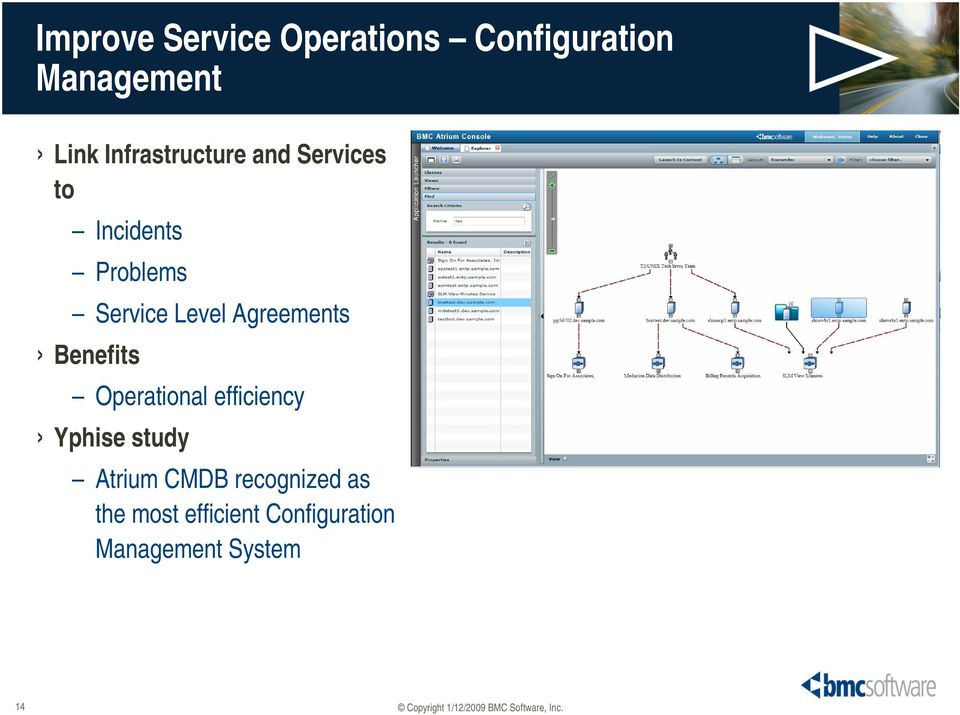 Agreements Benefits Operational efficiency Yphise study Atrium