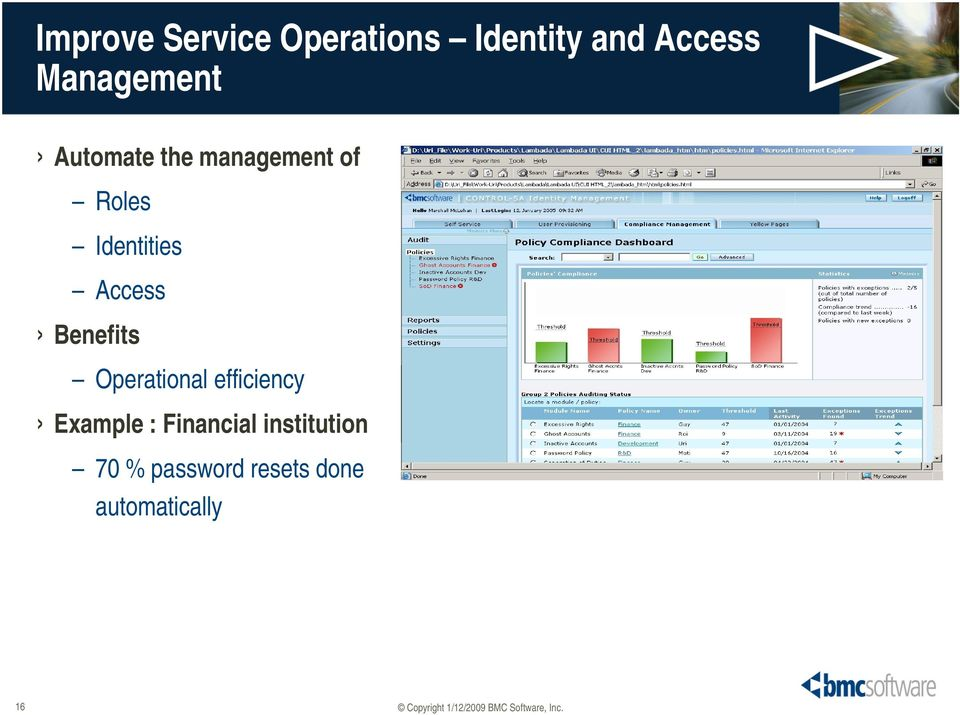 Identities Access Benefits Operational efficiency