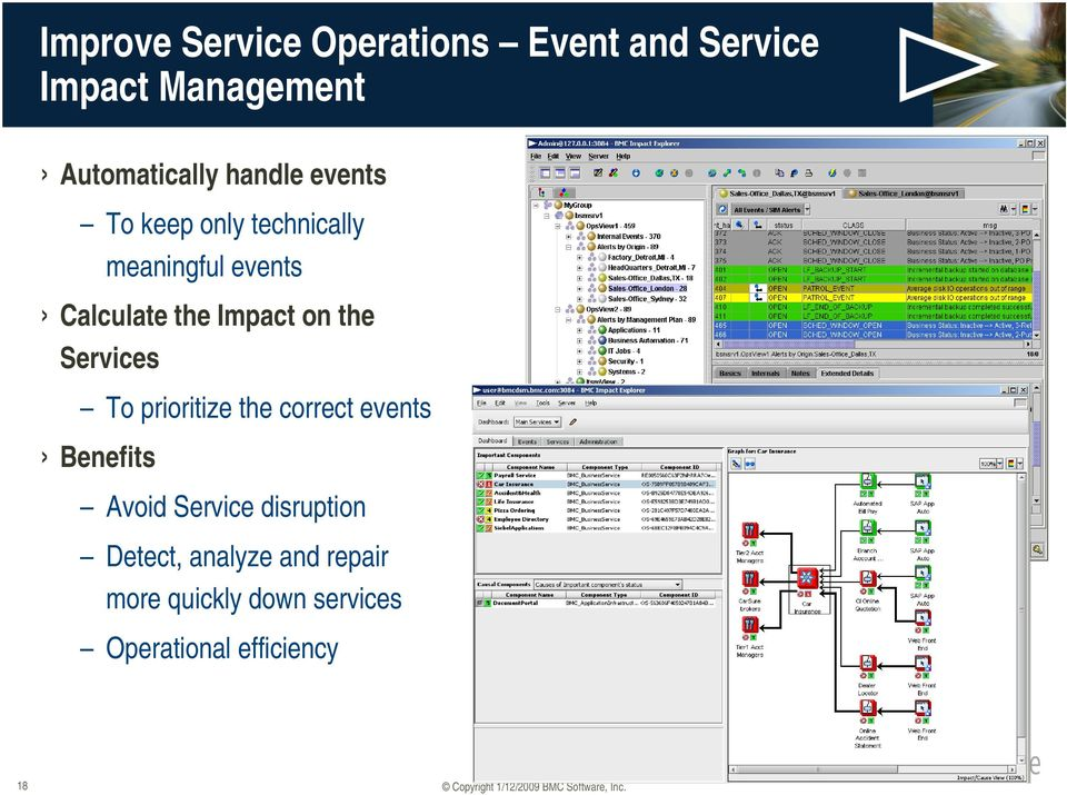 on the Services To prioritize the correct events Benefits Avoid Service