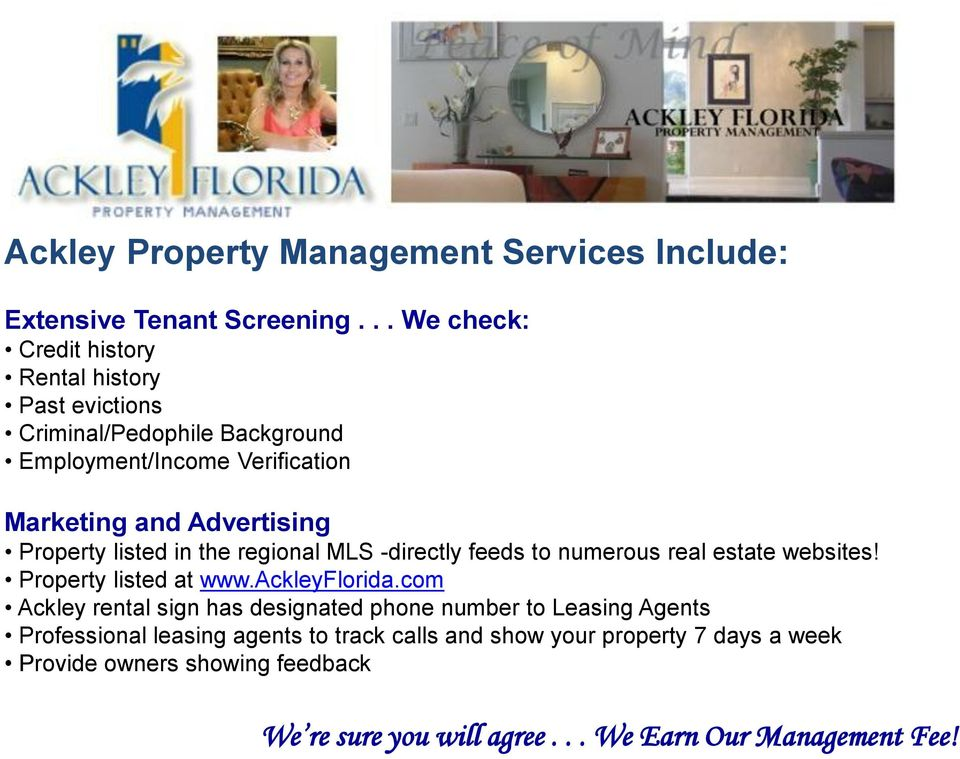 Learn more about Ackley Property Management Services