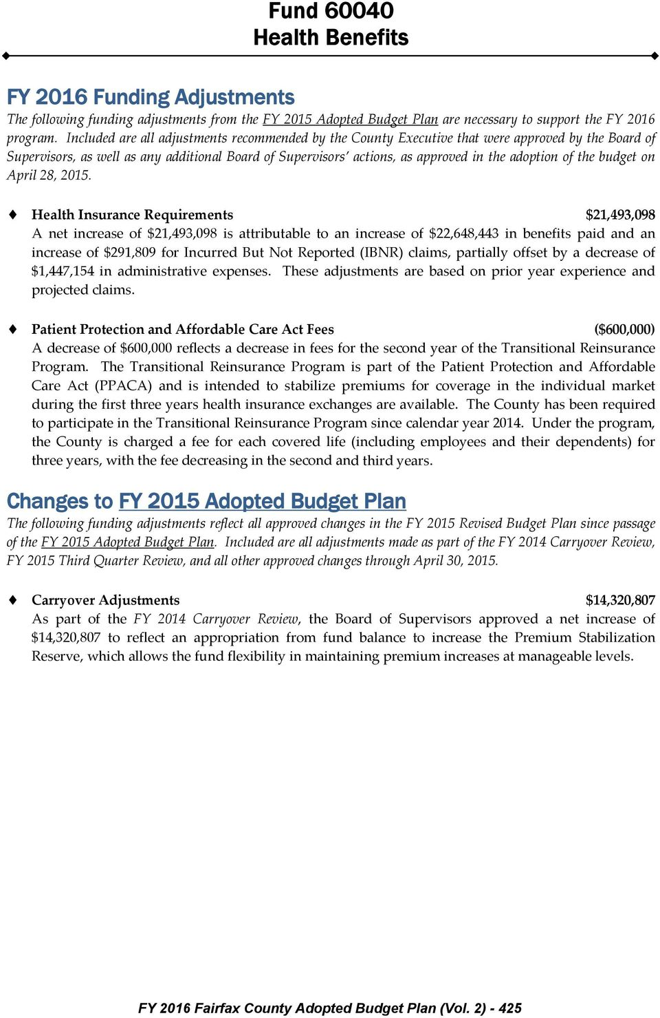 the budget on April 28, 2015.