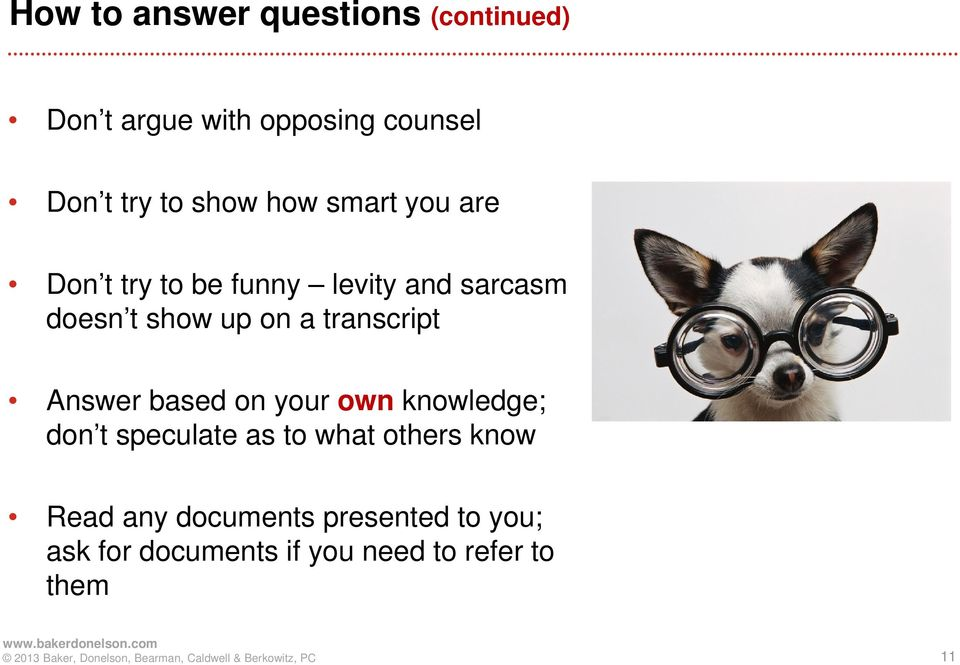 transcript Answer based on your own knowledge; don t speculate as to what others