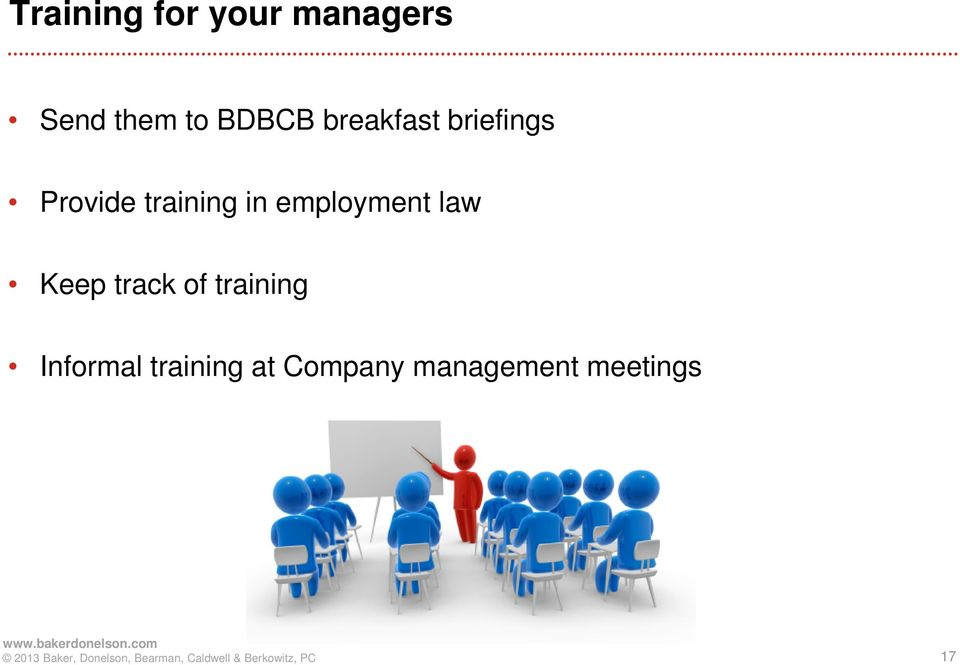 in employment law Keep track of training