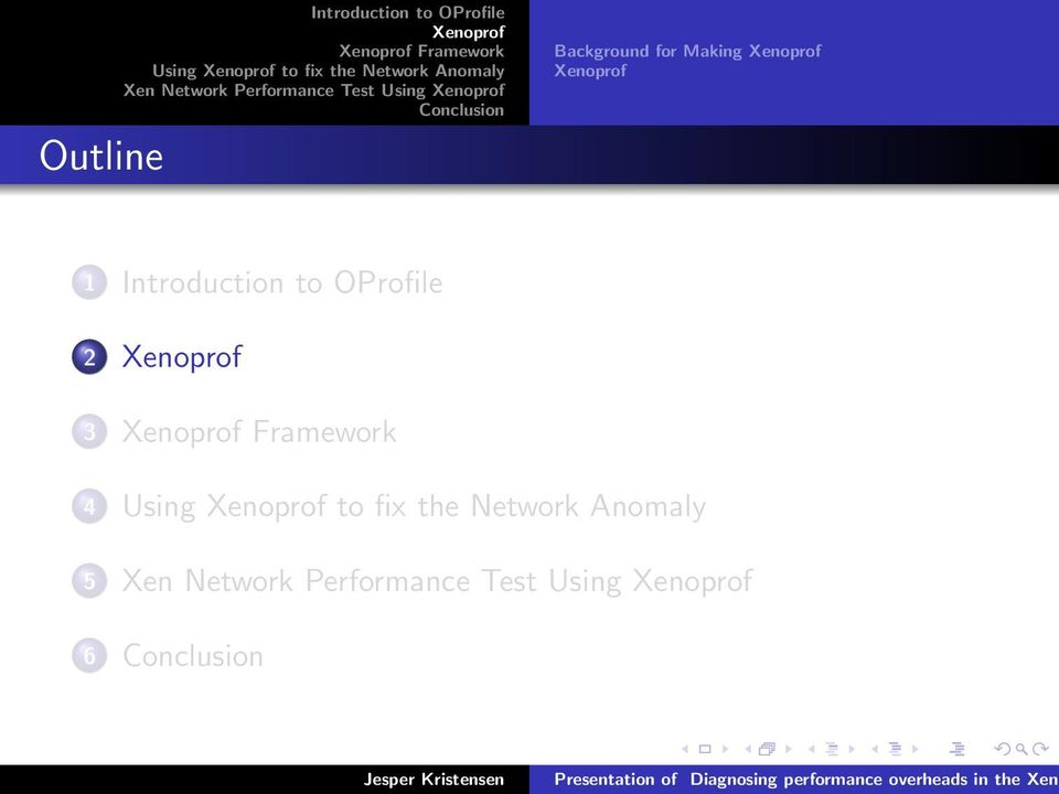for Making 1 Introduction to OProfile 2 3 Framework 4 Using