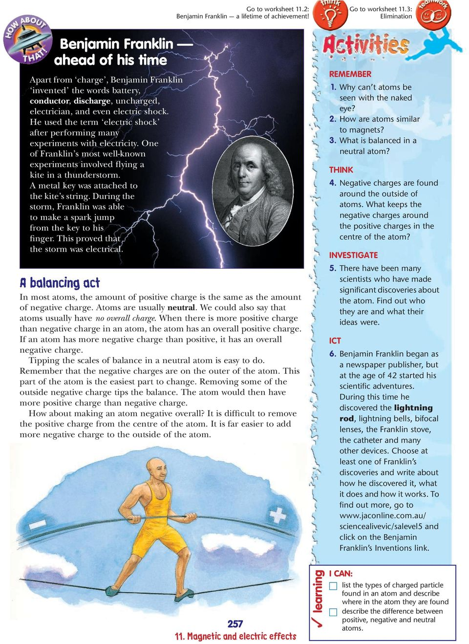 He used the term electric shock after performing many experiments with electricity. One of Franklin s most well-known experiments involved flying a kite in a thunderstorm.