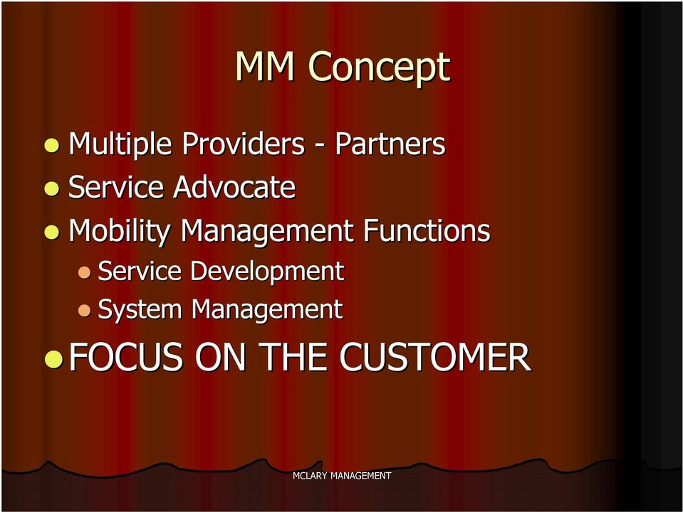 Management Functions Service