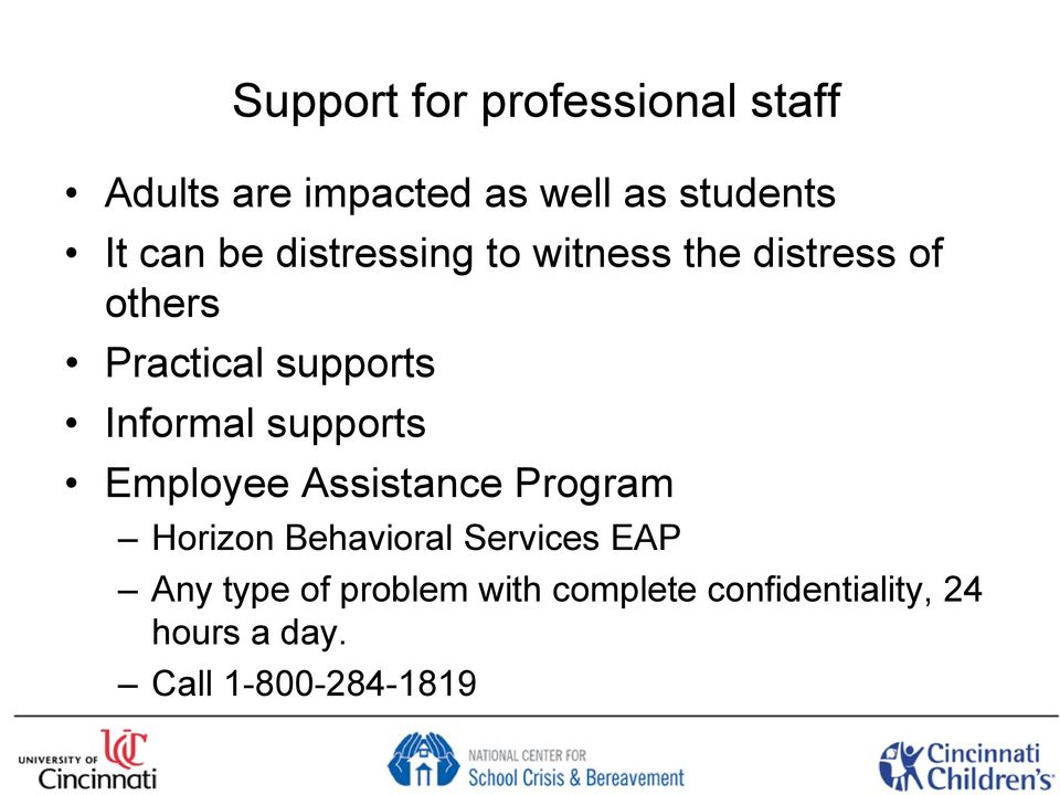 supports Employee Assistance Program Horizon Behavioral Services EAP Any type
