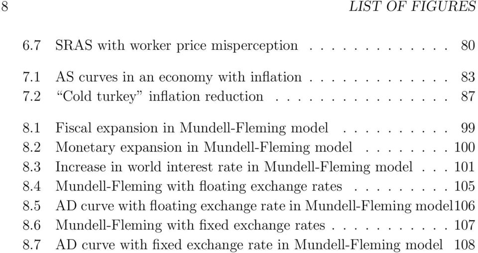 2 Monetary expansion in Mundell-Fleming model........ 100 8.3 Increase in world interest rate in Mundell-Fleming model... 101 8.