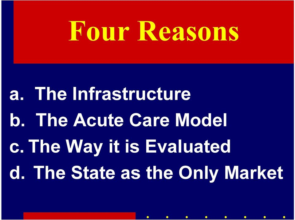 The Acute Care Model c.