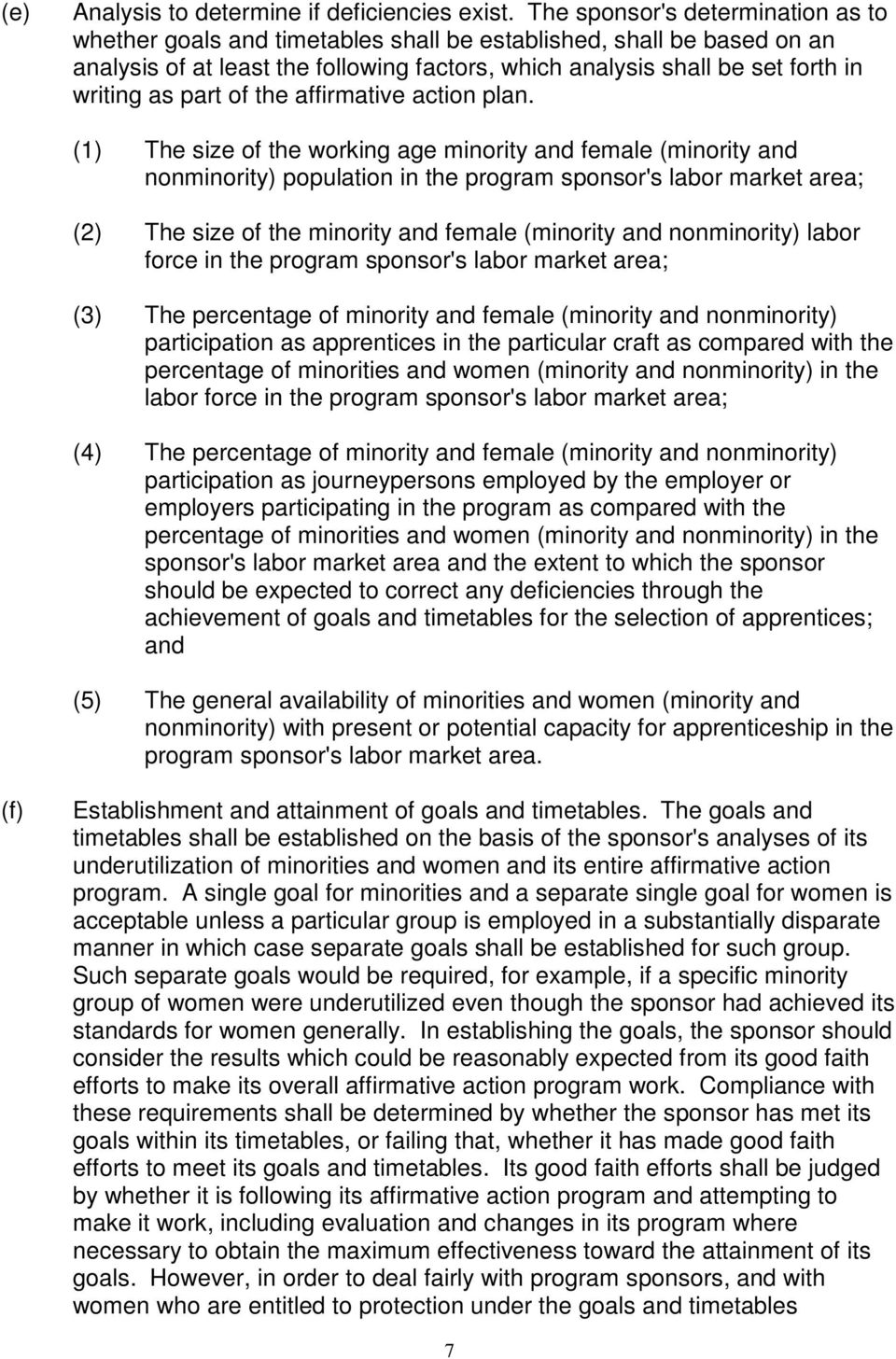 part of the affirmative action plan.