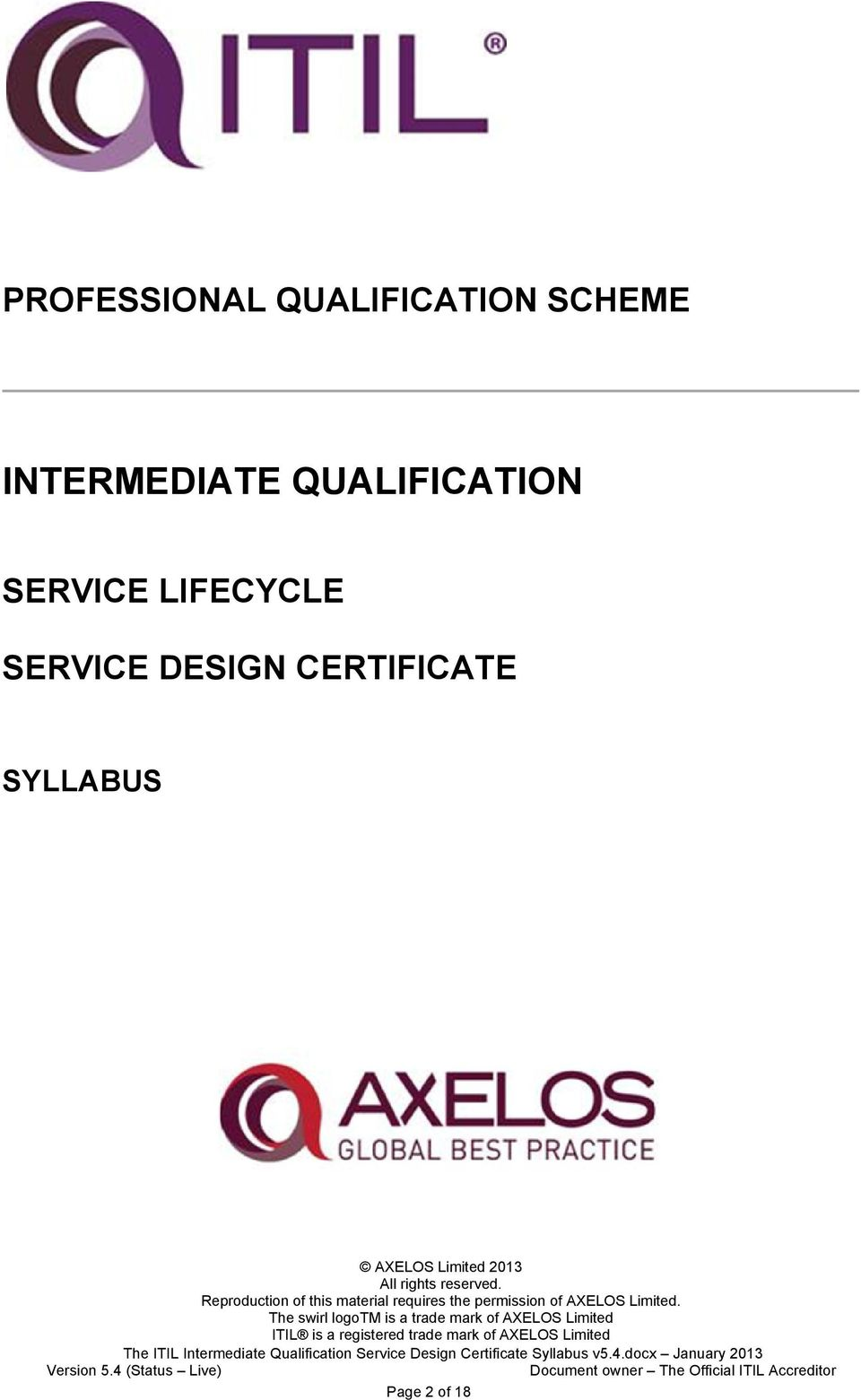 QUALIFICATION SERVICE LIFECYCLE