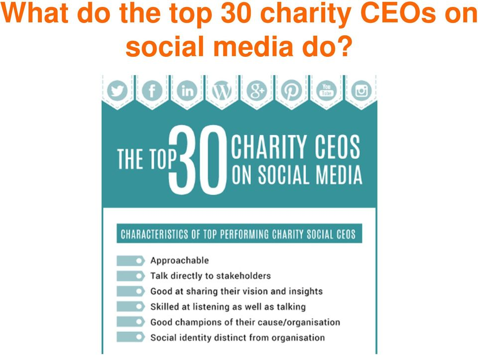 charity CEOs