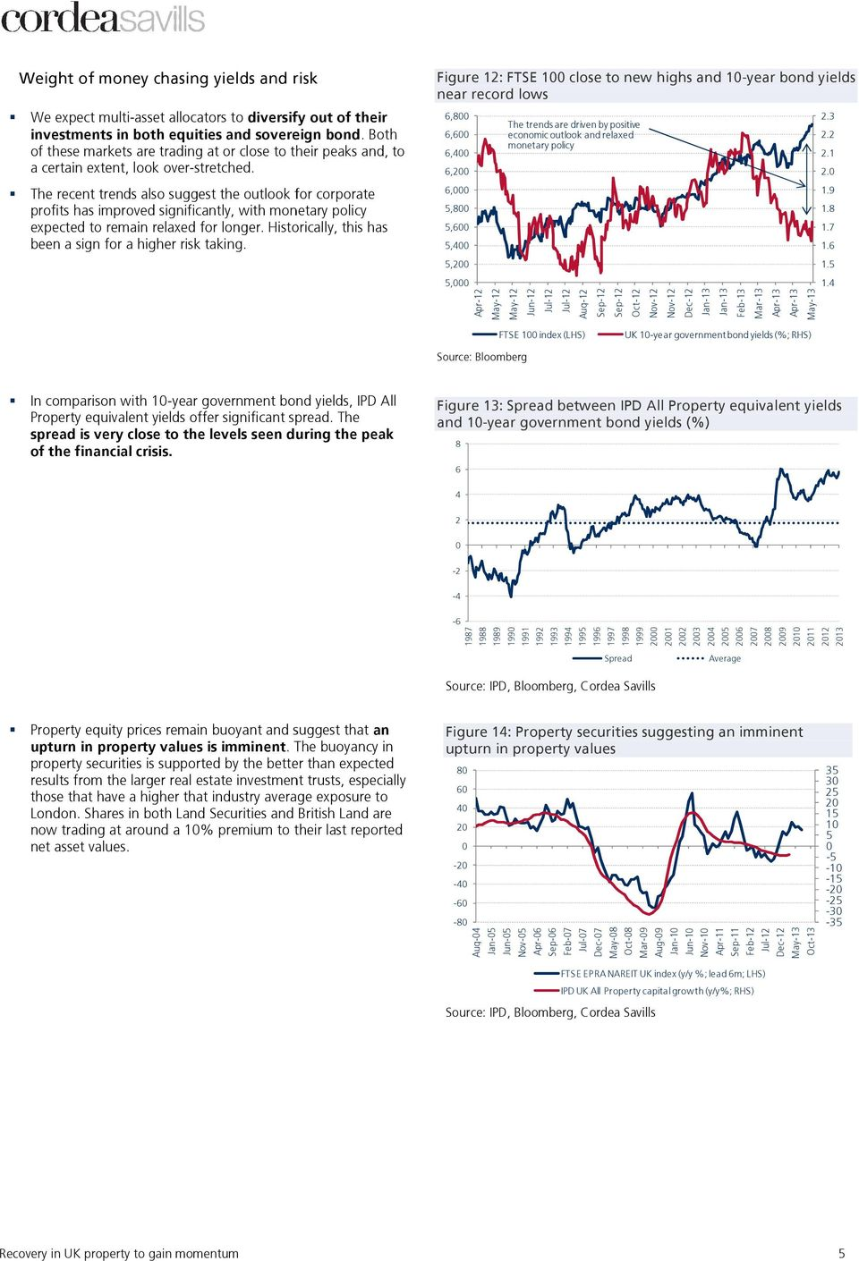 The recent trends also suggest the outlook for corporate profits has improved significantly, with monetary policy expected to remain relaxed for longer.
