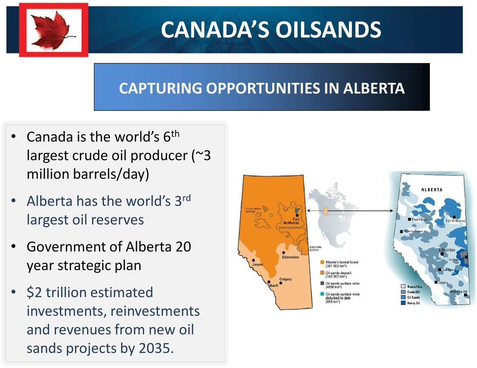 largest oil reserves Government of Alberta 20 year strategic plan $2 trillion