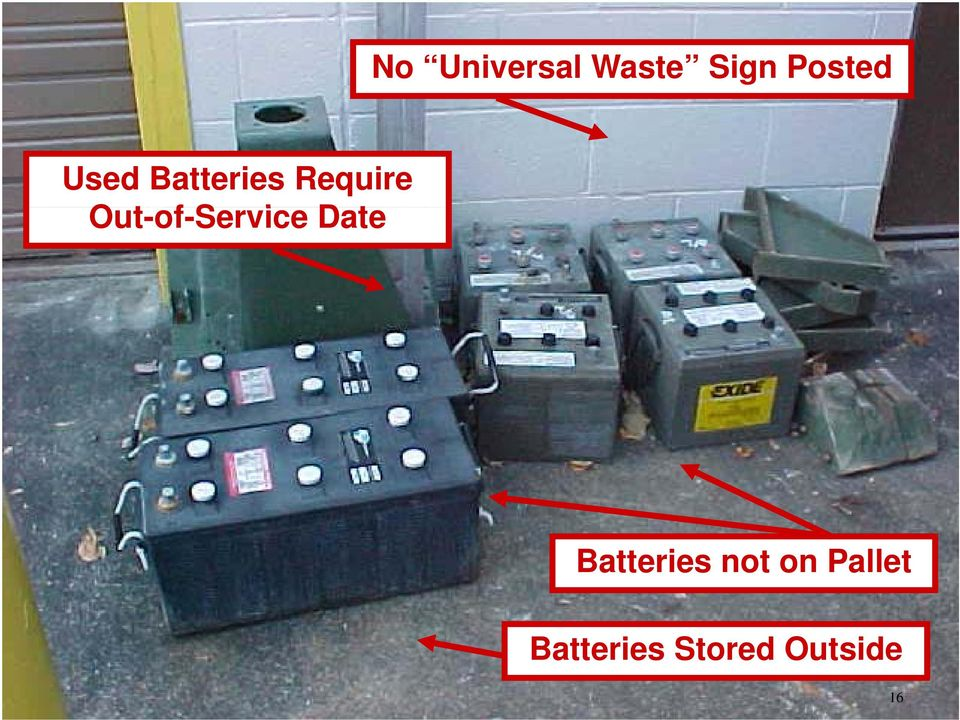 Out-of-Service Date Batteries