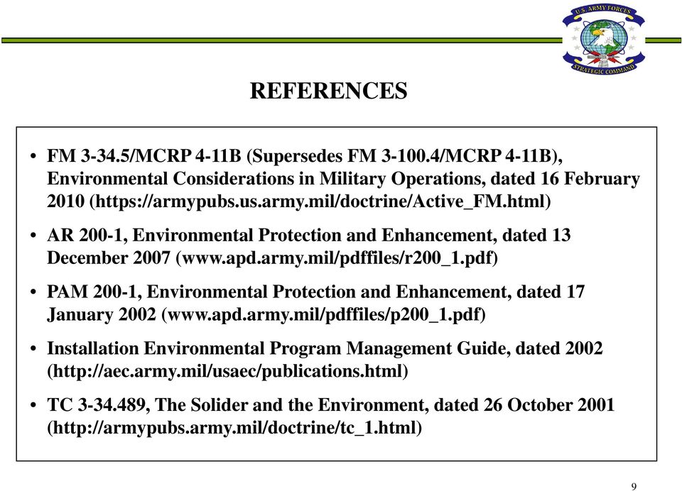 pdf) PAM 200-1, Environmental Protection and Enhancement, dated 17 January 2002 (www.apd.army.mil/pdffiles/p200_1.