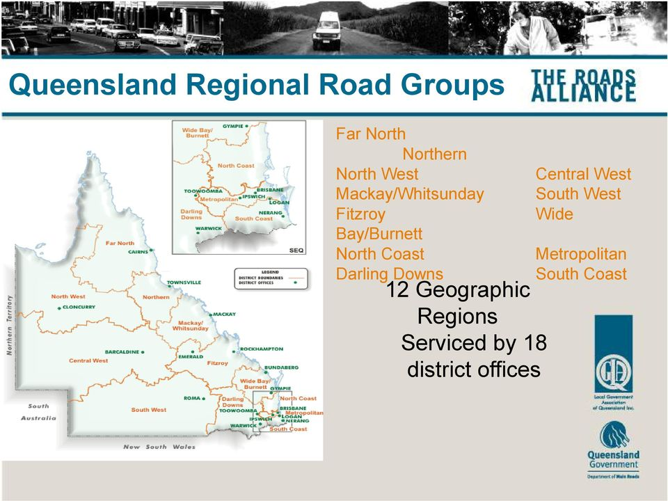 Darling Downs 12 Geographic Regions Serviced by 18
