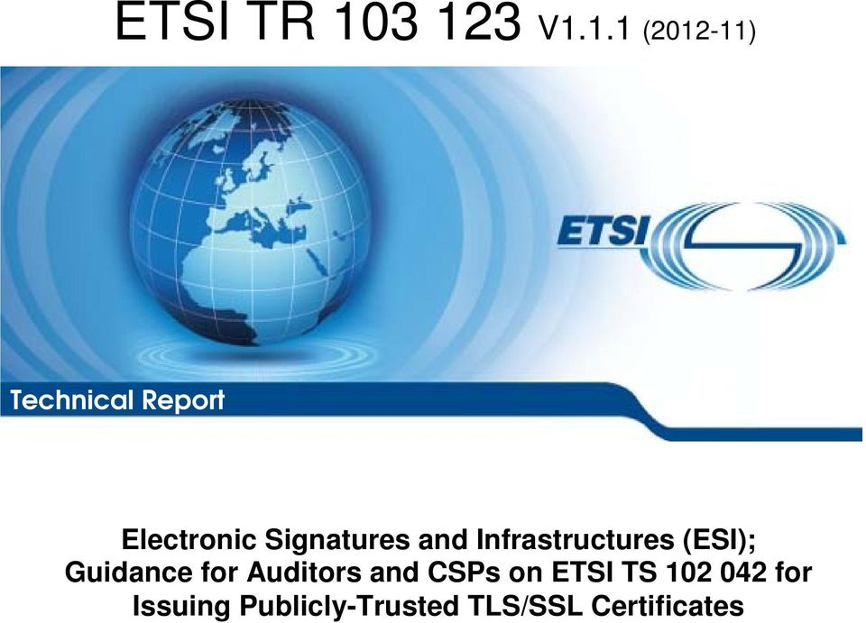 (ESI); Guidance for Auditors and CSPs on TS
