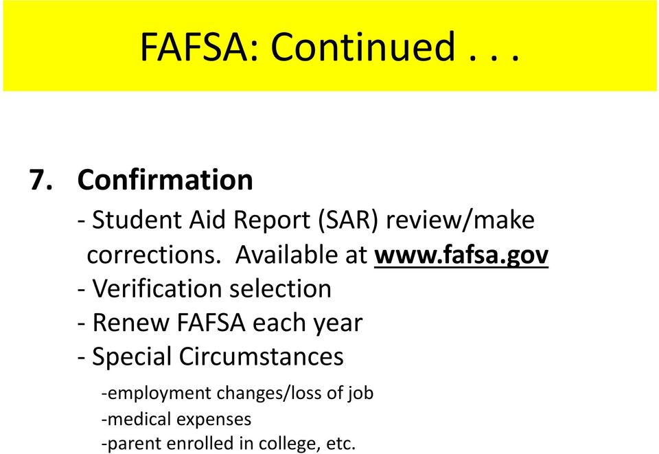 Available at www.fafsa.