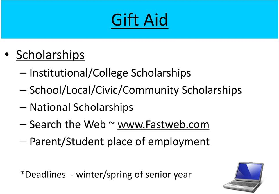 Scholarships Search the Web ~ www.fastweb.