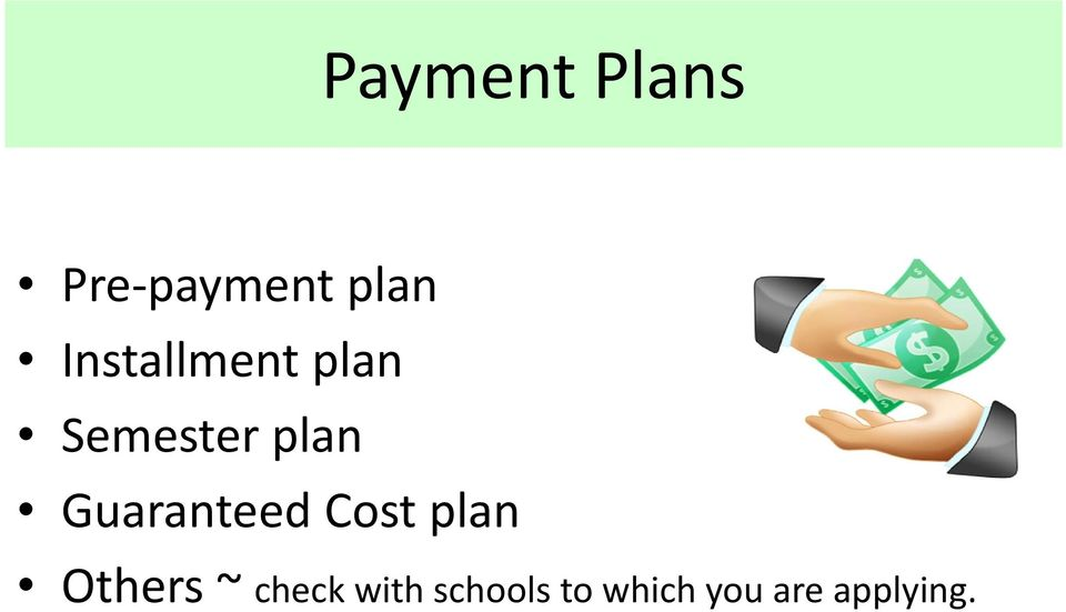 Guaranteed Cost plan Others ~