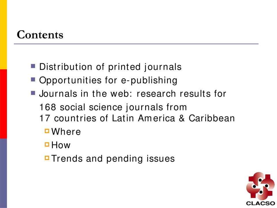 for 168 social science journals from 17 countries of