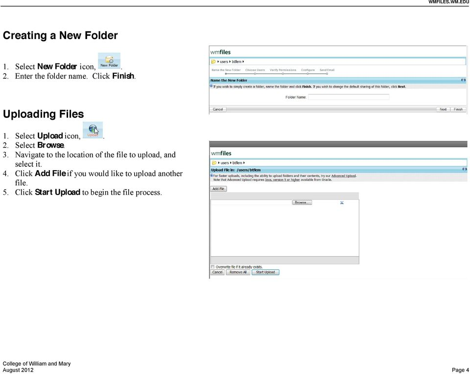 Navigate to the location of the file to upload, and select it. 4.