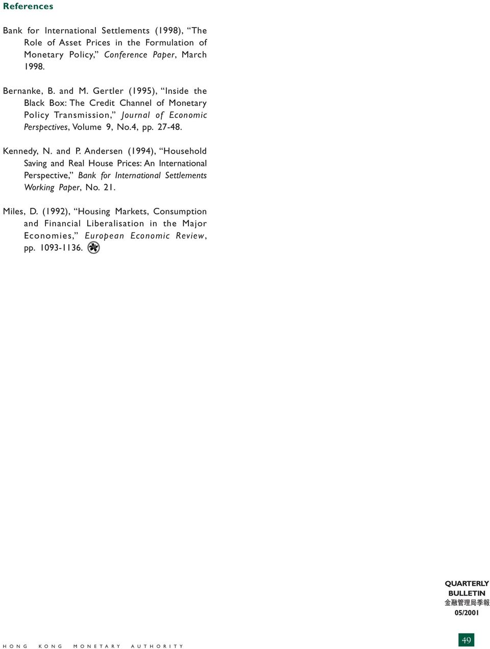 4, pp. 27-48. Kennedy, N. and P.