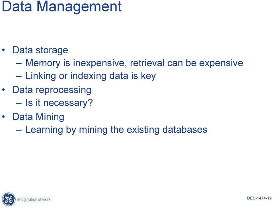 is key Data reprocessing Is it necessary?