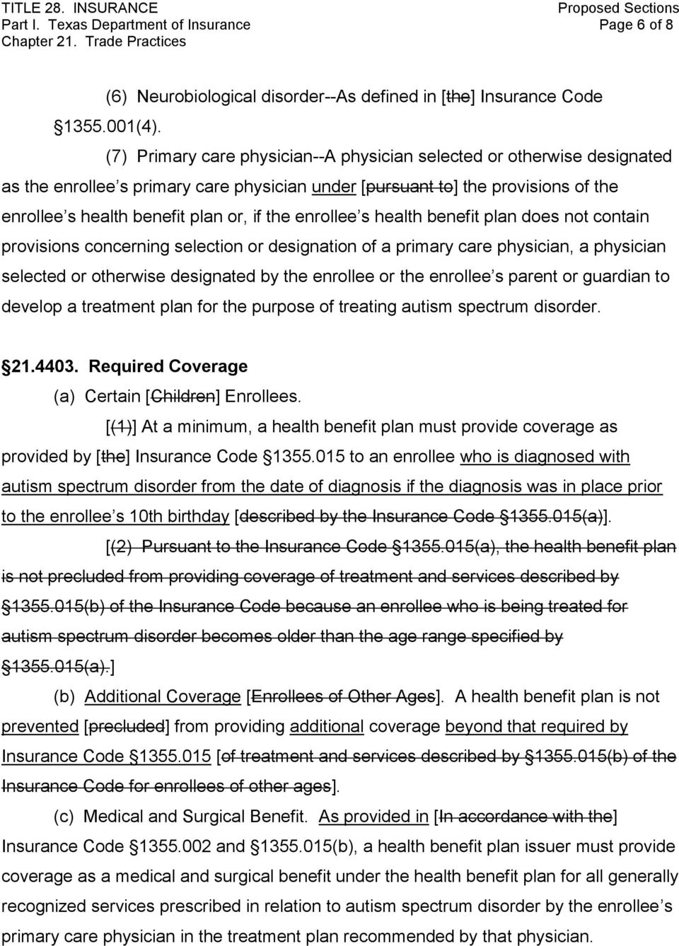 enrollee s health benefit plan does not contain provisions concerning selection or designation of a primary care physician, a physician selected or otherwise designated by the enrollee or the
