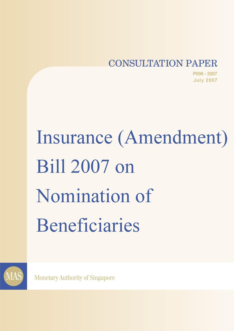 Insurance (Amendment)