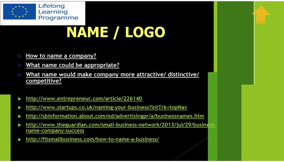 com/article/226140 http://www.startups.co.uk/naming-your-business?inttrk=topnav http://sbinformation.about.