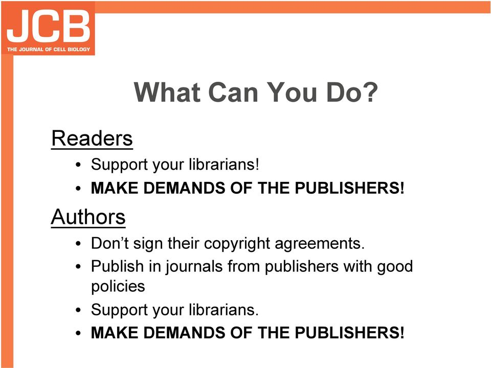 Authors Don t sign their copyright agreements.