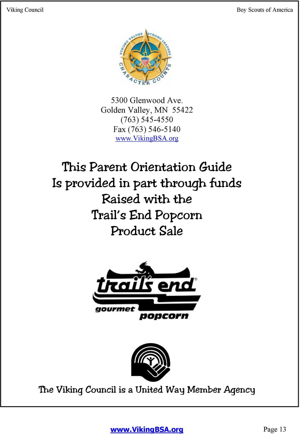 org This Parent Orientation Guide Is provided in part through funds Raised with