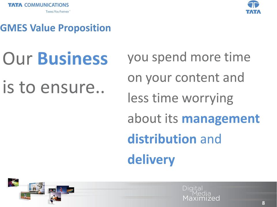 . you spend more time on your content