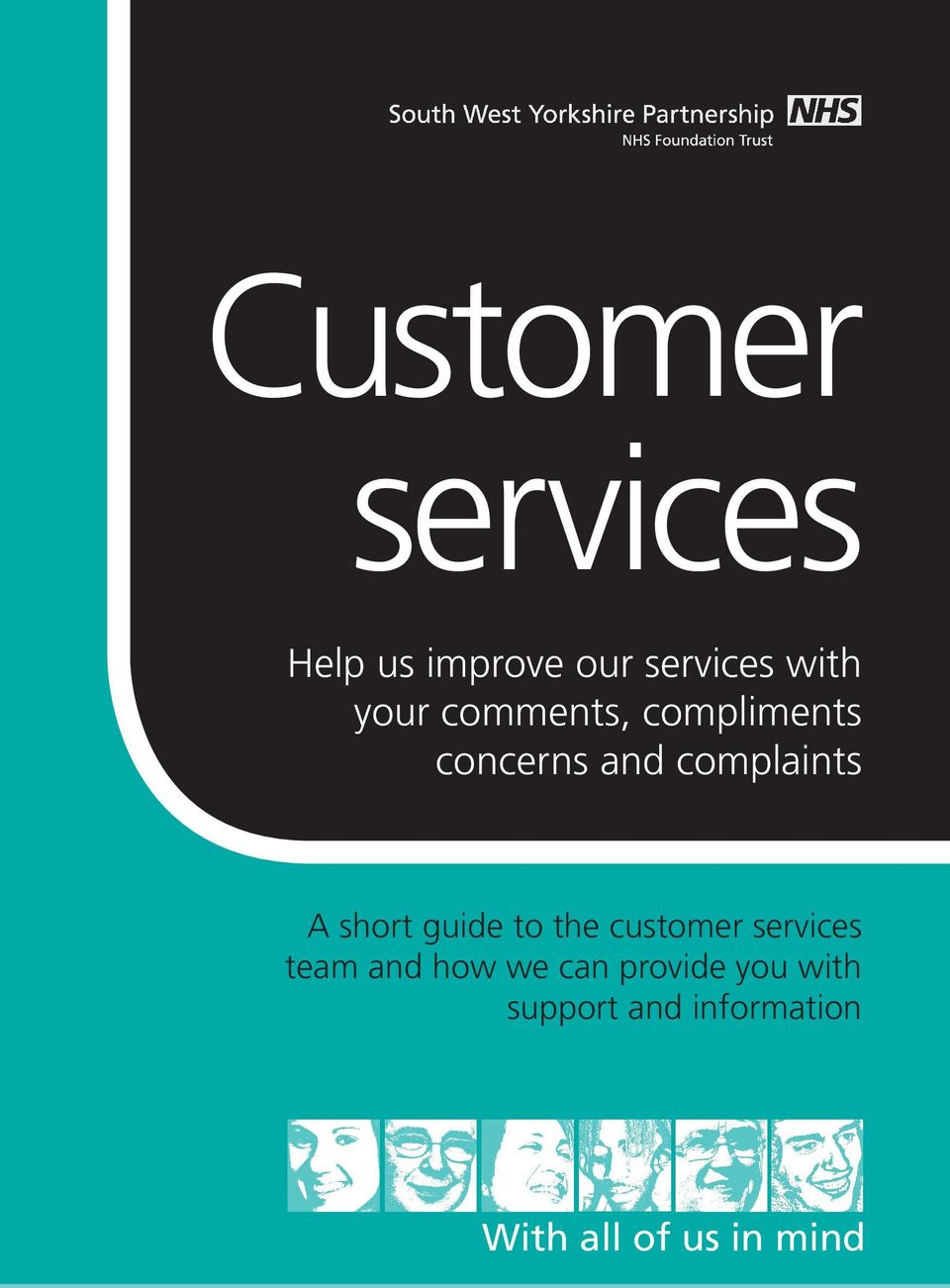 short guide to the customer services team and how we can