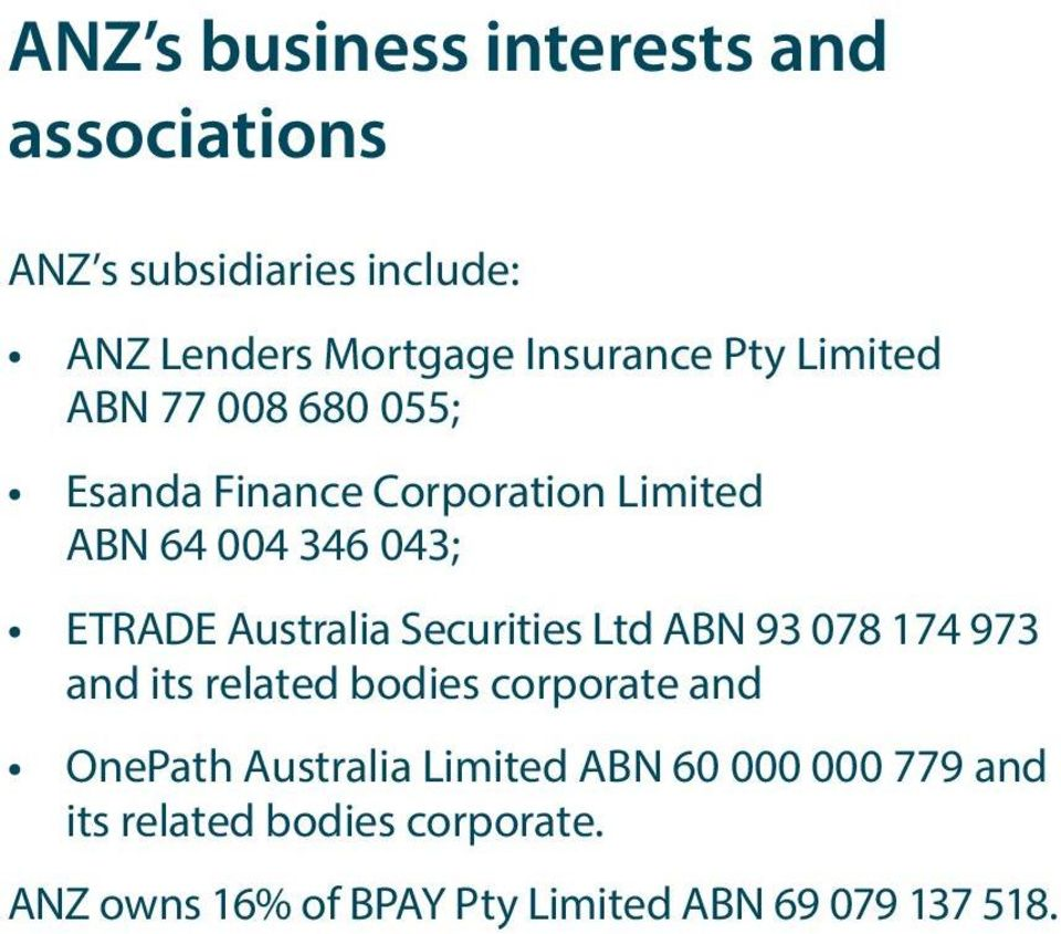 Australia Securities Ltd ABN 93 078 174 973 and its related bodies corporate and OnePath Australia