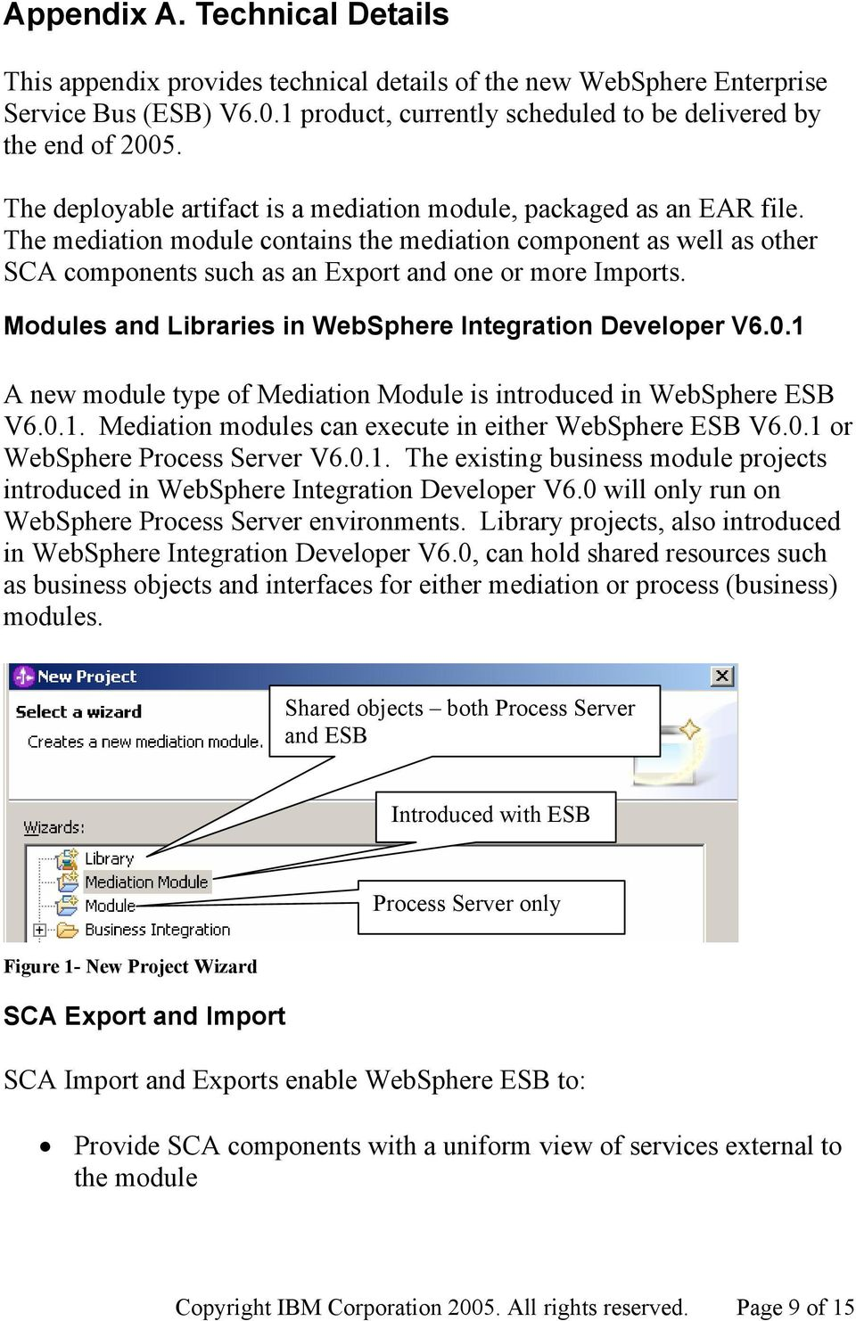Modules and Libraries in WebSphere Integration Developer V6.0.1 A new module type of Mediation Module is introduced in WebSphere ESB V6.0.1. Mediation modules can execute in either WebSphere ESB V6.0.1 or WebSphere Process Server V6.